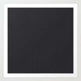 Simulated Black Carbon Fiber Art Print