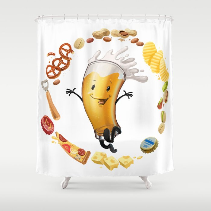 I Like Beer Shower Curtain By Antracit
