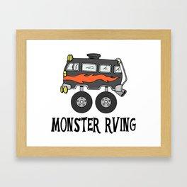 Monster RVing Framed Art Print
