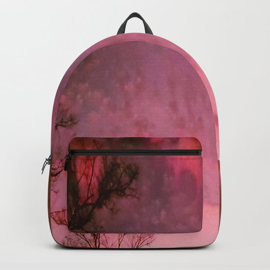 Red Night sky Backpack