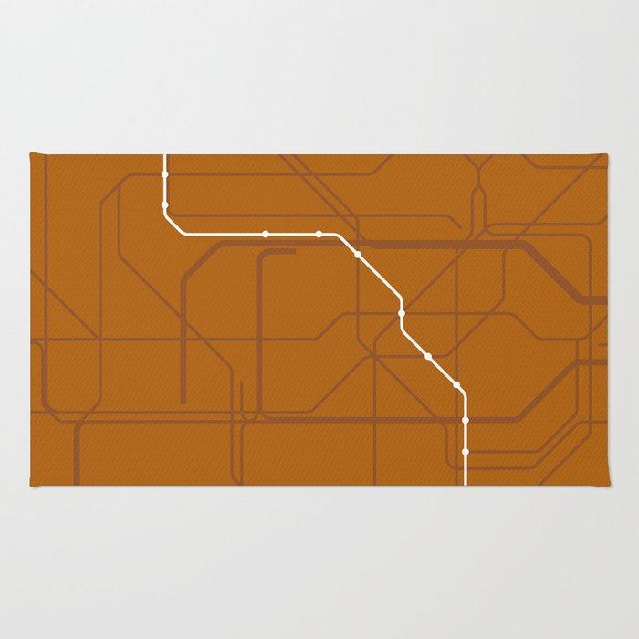 London Underground Bakerloo Line Route Tube Map Rug