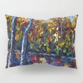 Autumn Forest River  (Palette Knife) Pillow Sham