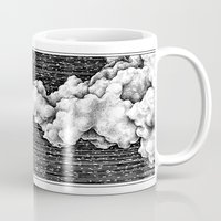8 bit Mugs featuring 8 Bit Sky by Corinne Elyse