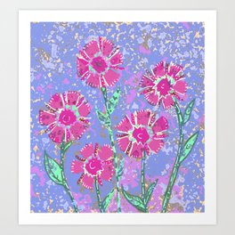 April Flowers Art Print