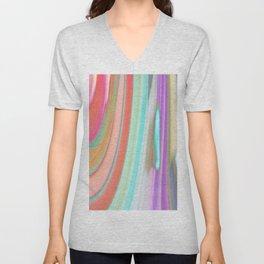 476 - Abstract Colour Design Unisex V-Neck