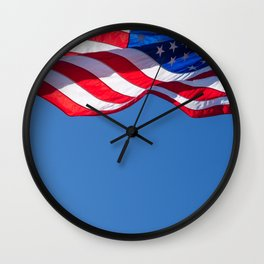 Stars and Stripes, Blowing in the Wind. Wall Clock