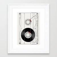 cassette Framed Art Prints featuring Cassette by T.K.O.