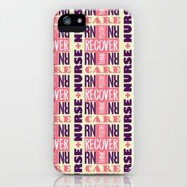 Nurse Tile Pattern iPhone Case