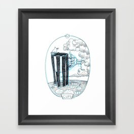 Skeleton Tarot Ace of Cups Framed Art Print