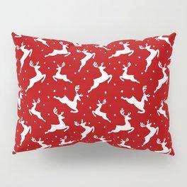 Christmas Reindeer Red Pattern Pillow Sham