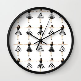 Black and white dolls Wall Clock