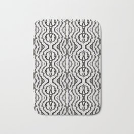 Black Coral Weaving Bath Mat