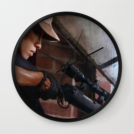 Rosita The Sniper - The Walking Dead Wall Clock