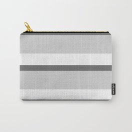 Strips - white and gray. Carry-All Pouch