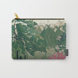 The Waterfall by Henri Rousseau 1910 // Jungle Waterfall Deer Indigenous People Flowers Plant Scene Carry-All Pouch