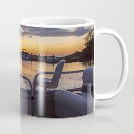 Boat Side Sunset Coffee Mug
