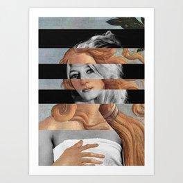 Botticelli's Venus & Brigitte Bardot Art Print