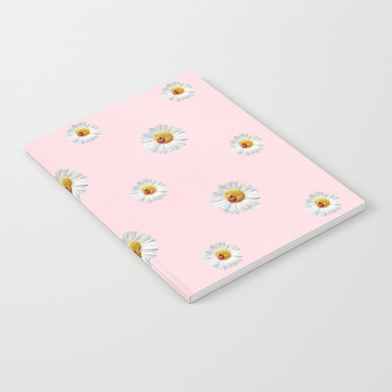 Flower Flowers Daisies in love- pink floral pattern Notebook