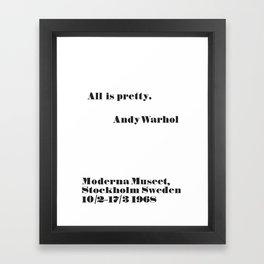 WARHOL All is pretty Framed Art Print