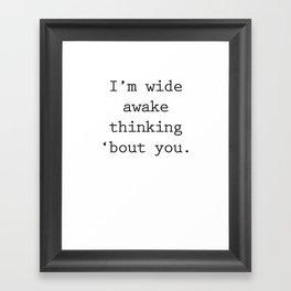 Wide Awake Print Framed Art Print