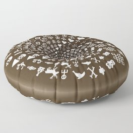 Coffee Lovers Mandala Floor Pillow