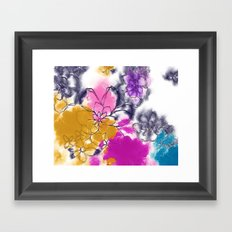 Abstract Flowers - Watercolour Paiting Framed Art Print