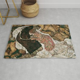 "Egon Schiele ""Death And The Maiden"" Rug"