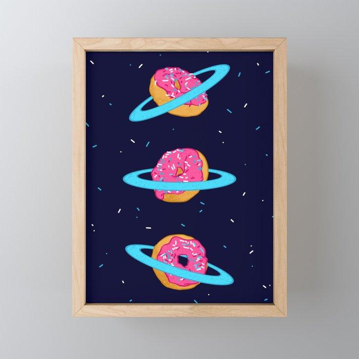 Sugar rings of Saturn Framed Mini Art Print