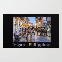 Rush Hour in Vigan City (on black) Rug