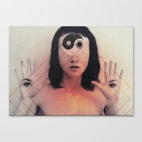third eye Canvas Prints featuring Third Eye by Isaak_Rodriguez