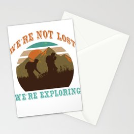 Hiking Fan T-shirt Cool mountaineer outfit  Stationery Cards