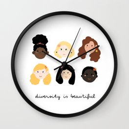 Women in Diversity Wall Clock