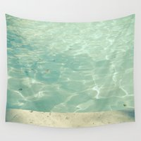 swim Wall Tapestries featuring Morning Swim by Cassia Beck