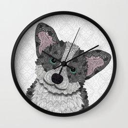 Welsh Corgi Coco (green eyes) Wall Clock