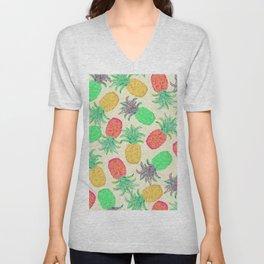 Pineapple Pandemonium (multi) Unisex V-Neck