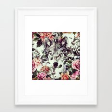 Floral Wolf Framed Art Print