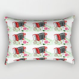 Retro red accordion Rectangular Pillow