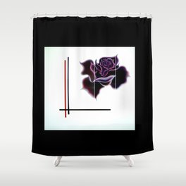 Abstract in perfection - Fertile Imagination Rose 5 Shower Curtain