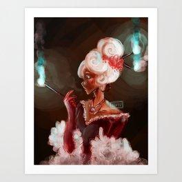 Red Velvet Lady Art Print