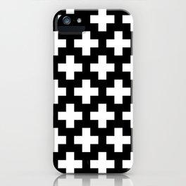 Swiss Cross W&B iPhone Case