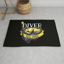 Diver Life Scuba Diving Rug