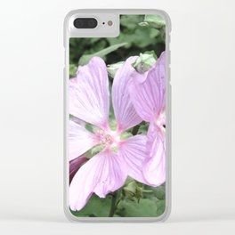Symphonia flower in pink Clear iPhone Case