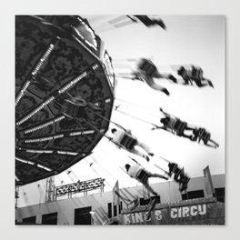 At the Fair: The Swings Canvas Print