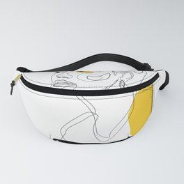Yellow Sketch Fanny Pack
