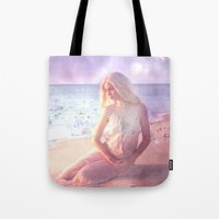 daenerys Tote Bags featuring Contemplate by SuzanneCarter