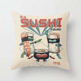 Sushi Squad Throw Pillow