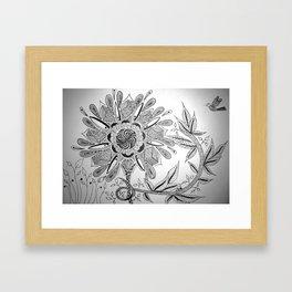 Flower Lure Framed Art Print