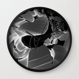 Metamorphosis Invert #1 Abstract Art Line Wall Clock