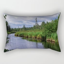 Boundary Waters Entry Point Little Indian Sioux River Rectangular Pillow
