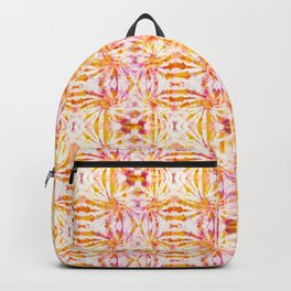 Summer Vibes Tie Dye in Sunrise Orange Backpack